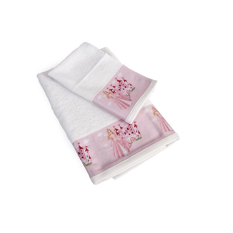 Βρεφικές Πετσέτες (Σετ 2 Τμχ) Dimcol Queen 66 Λευκό