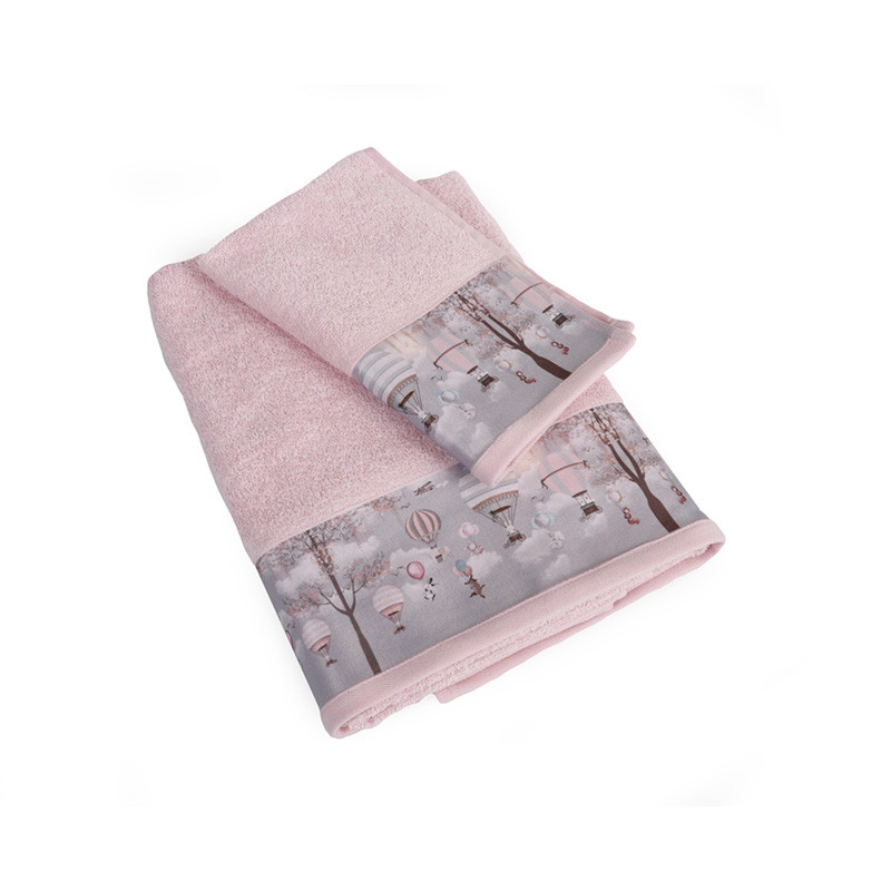 Βρεφικές Πετσέτες (Σετ 2 Τμχ) Dimcol Serenity 73 Ροζ