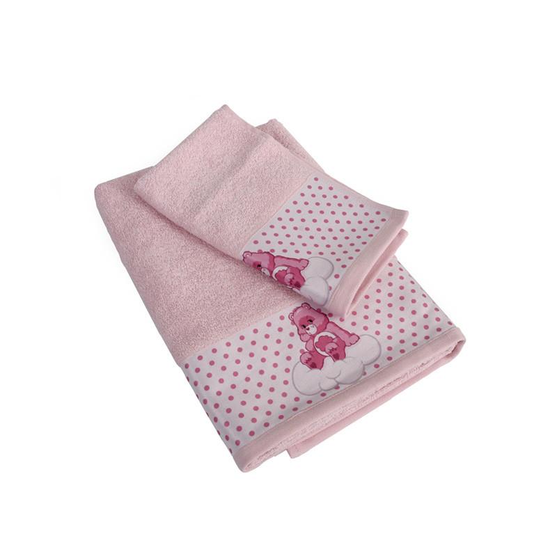 Βρεφικές Πετσέτες (Σετ 2 Τμχ) Dimcol Grumpy Bear 88 Ροζ