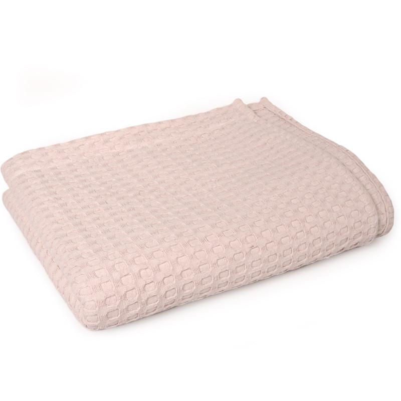 Κουβέρτα Πικέ Λίκνου 85X110 Dimcol Μονόχρωμη Ροζ