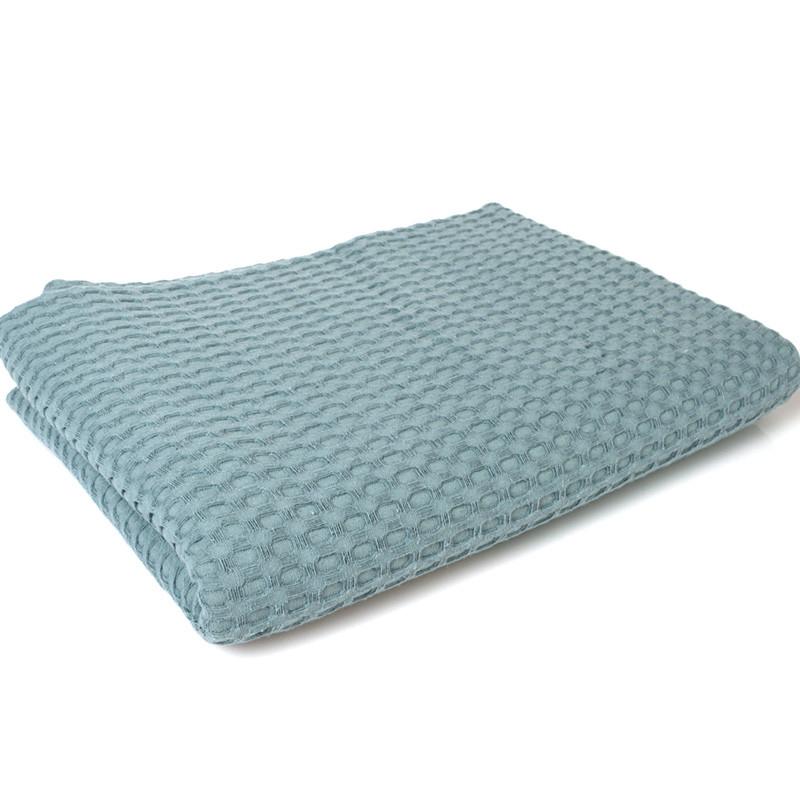 Κουβέρτα Πικέ Λίκνου 85X110 Dimcol Μονόχρωμη Πετρολ Πετρόλ