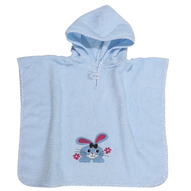 Poncho 45x90 Das Home Smile Embroidery 6540 Σιελ