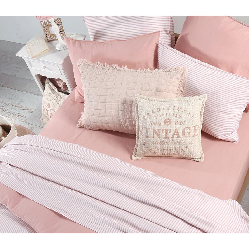 Σεντόνια Υπέρδιπλα (Σετ) 240x260 Nef Nef Vintage Vintage Pink Χωρίς Λάστιχο