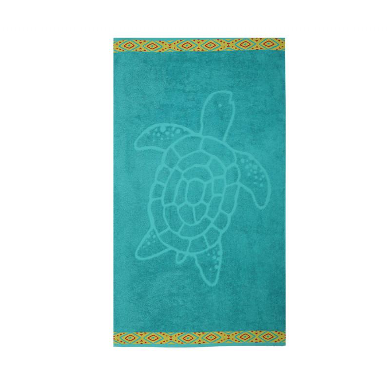 Πετσέτα Θαλάσσης 70x120 Nef Nef Ζακαρ Εμπριμε Turtle Petrol