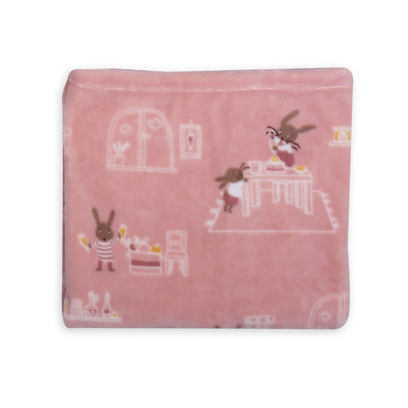 Κουβέρτα Fleece Κούνιας 110x140 Nef Nef Fleece Rabbit In The House