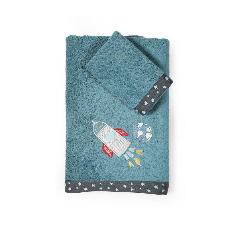 Παιδικές Πετσέτες (Σετ 2 Τμχ) Nef Nef Space Travel