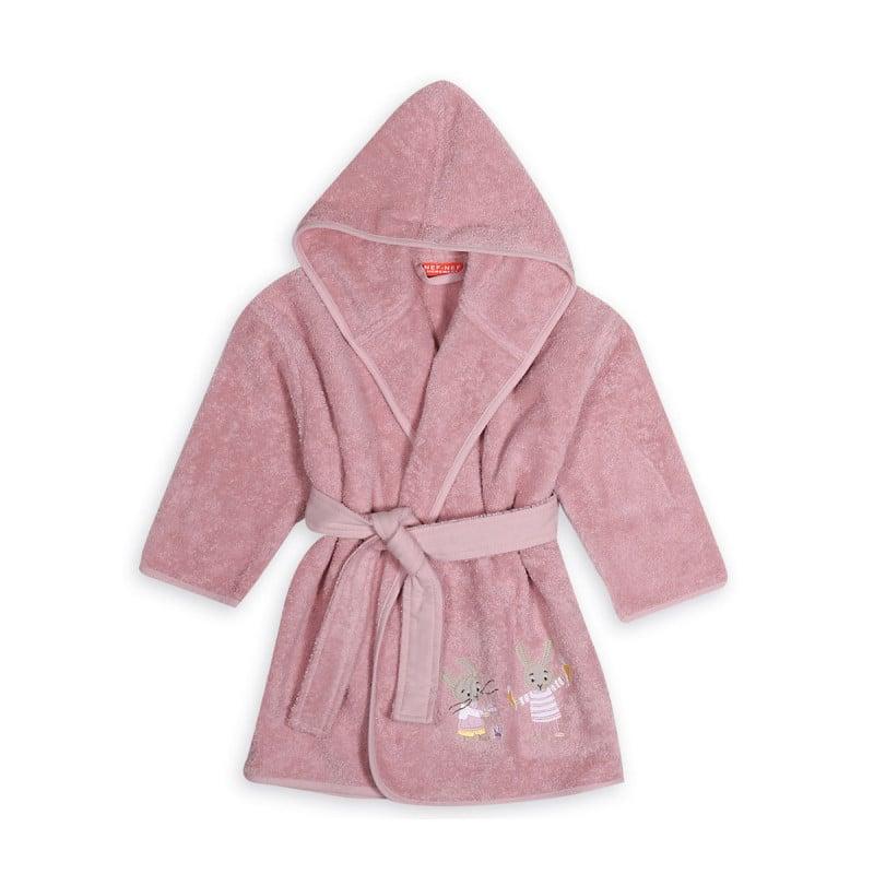Μπουρνούζι Με Κουκούλα Nef Nef Kenthth Rabbit In The House Pink