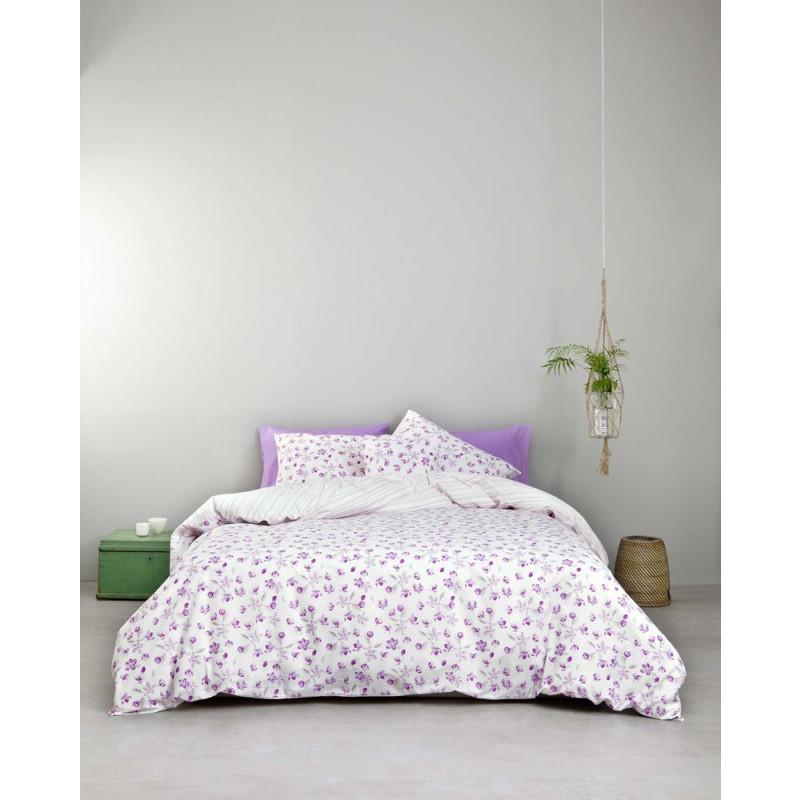Σεντόνια (Σετ) Υπέρδιπλα - Nima Water Lily Lilac