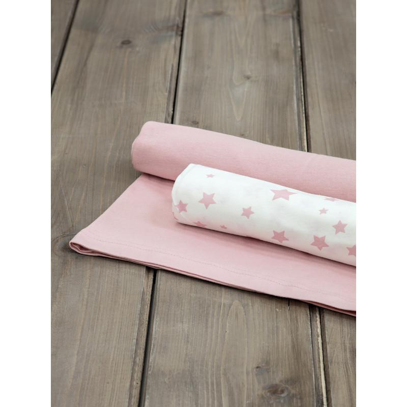 Σεντόνια Λίκνου (Σετ) 70x110 Nima Giggle Pink Χωρίς Λάστιχο