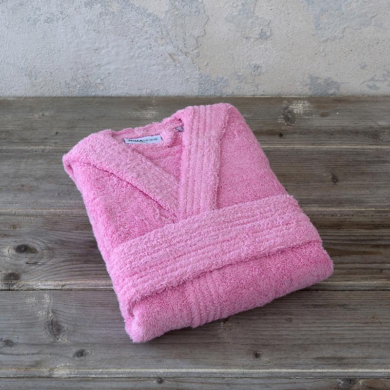 Βρεφικό Μπουρνούζι Με Κουκούλα 4 Nima Wizard Lolipop Pink