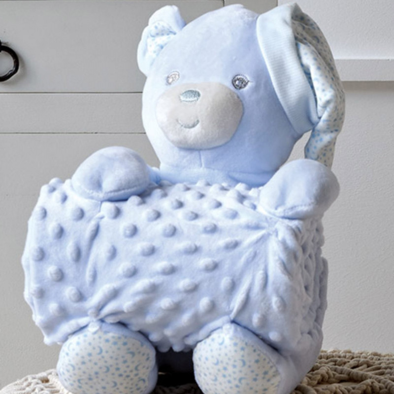 Κουβέρτα Fleece Αγκαλιάς 75X100 Kentia Versus Bear 19 Γαλάζιο