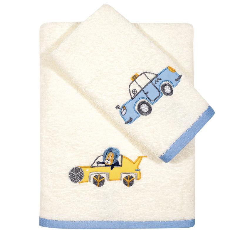 Βρεφικές Πετσέτες (Σετ 2 Τμχ) Das Home Fun Embroidery 6567 Εκρου