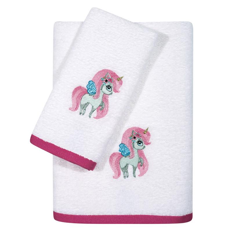 Βρεφικές Πετσέτες (Σετ 2 Τμχ) Das Home Fun Embroidery 6570 Λευκό