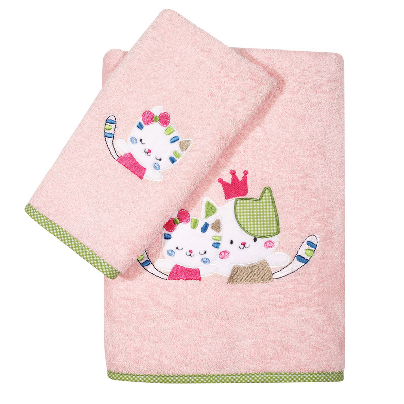 Βρεφικές Πετσέτες (Σετ 2 Τμχ) Das Home Smile Embroidery 6573 Ροζ