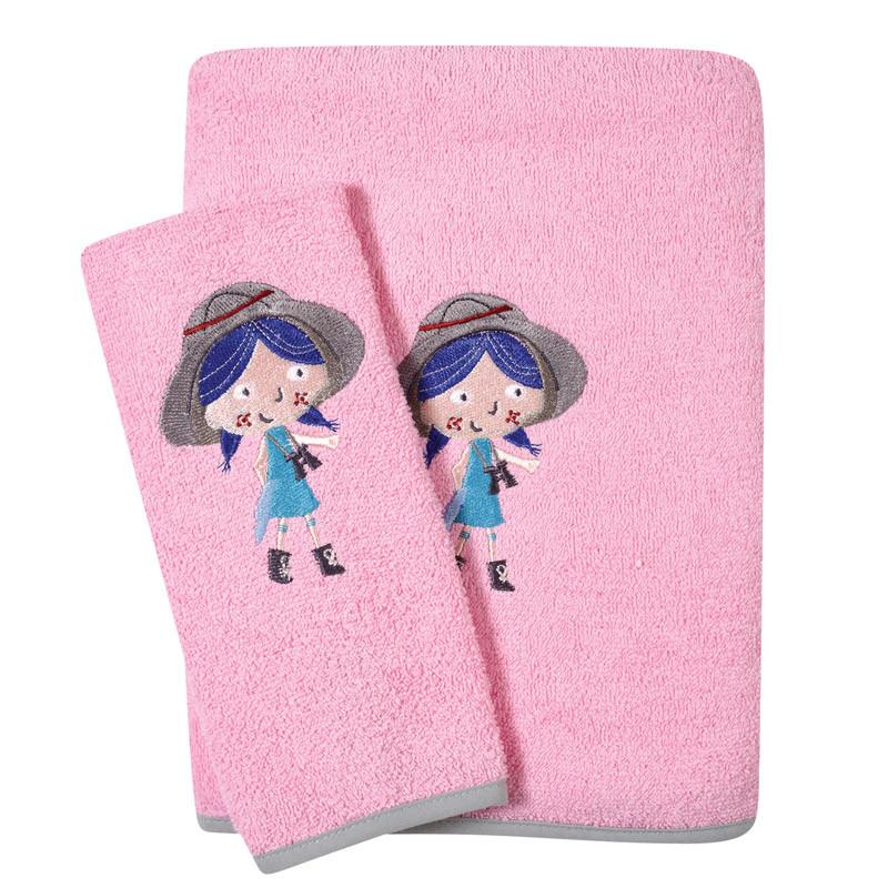 Βρεφικές Πετσέτες (Σετ 2 Τμχ) Das Home Smile Embroidery 6580 Σομον