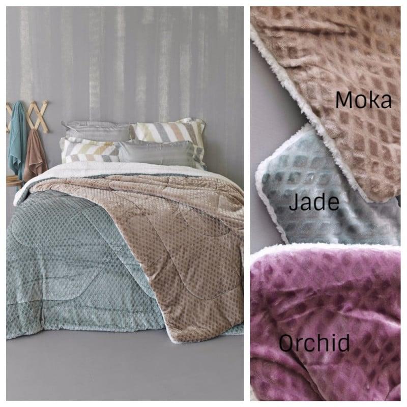 Κουβερτοπάπλωμα Υπέρδιπλο (Τμχ) 220x240 Celine Flannel Fleece Palamaiki