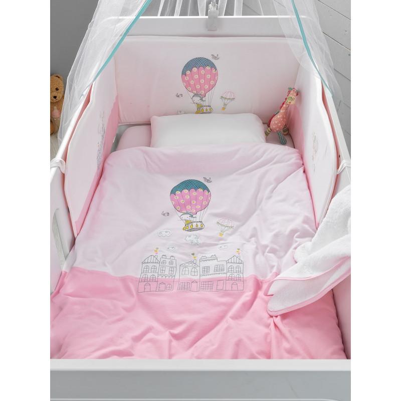 Βρεφικό Σετ Κρεβατιού (5 Τμχ) Ballon Palamaiki Baby Comfort in A Box