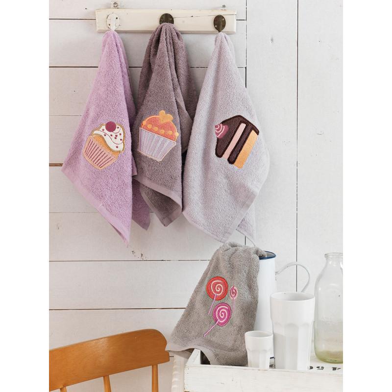 Πετσέτες Κουζίνας (Σετ 4 Τμχ) 40x60 Cakes Palamaiki Kitchen Towels