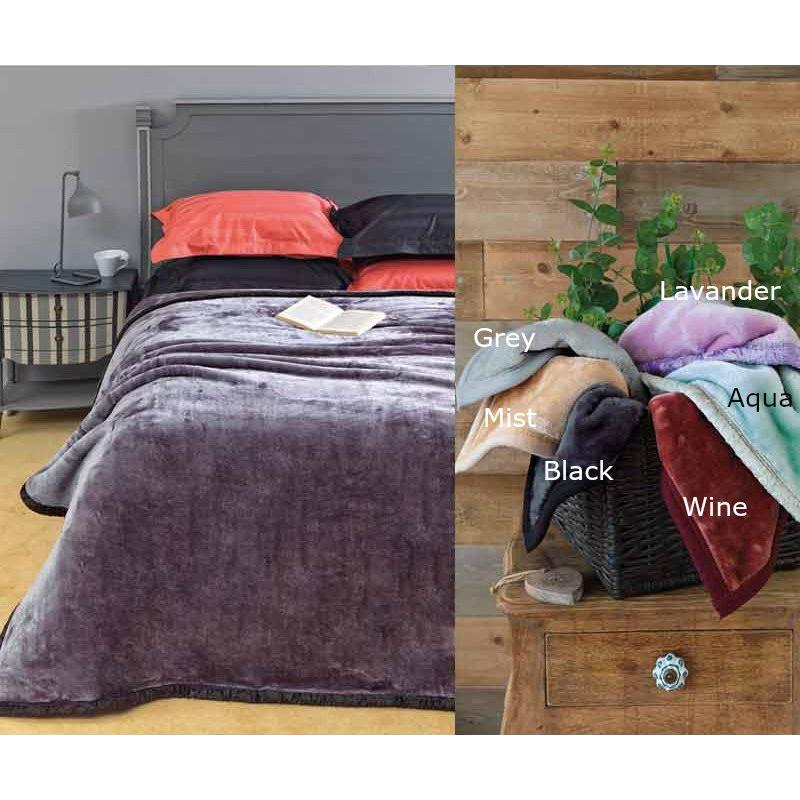 Κουβέρτα Βελουτέ Μονή 160x220 Chic Velvet