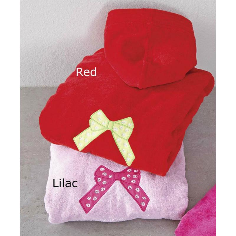 Παιδικό Μπουρνούζι 6 έως 10 – Nima - Fashion Girl(Lilac-Red)