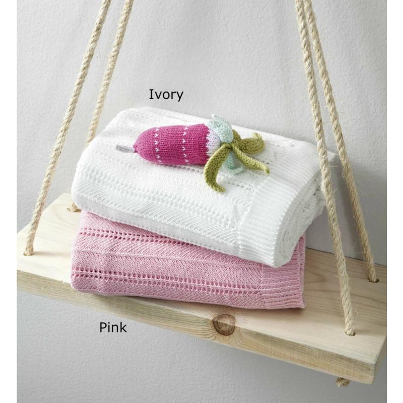 Κουβέρτα Πλεκτή Κούνιας 110x150 - Nima Hug