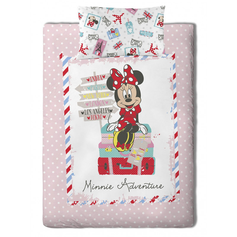 Σεντόνια (Σετ) Μονά Minnie Travel Palamaiki Disney Irene