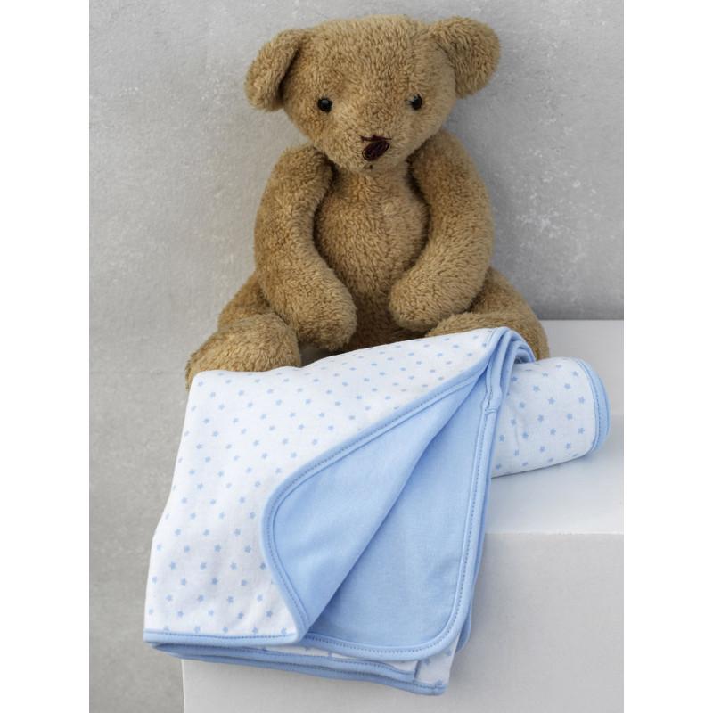 Κουβέρτα Διπλής Όψης 75x100 Palamaiki New Baby Nb-0117 Blue