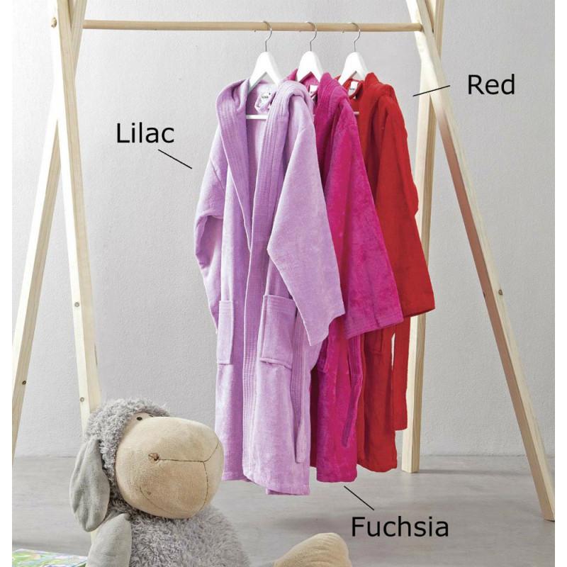 Παιδικό Μπουρνούζι 6 έως 10 - Nima - Nima Nipper(Fuchsia-Red-Lilac)