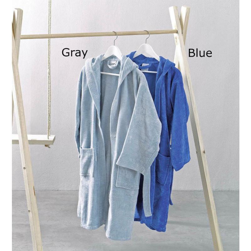Παιδικό Μπουρνούζι 6 έως 10 - Nima - Nipper(Gray-Blue)