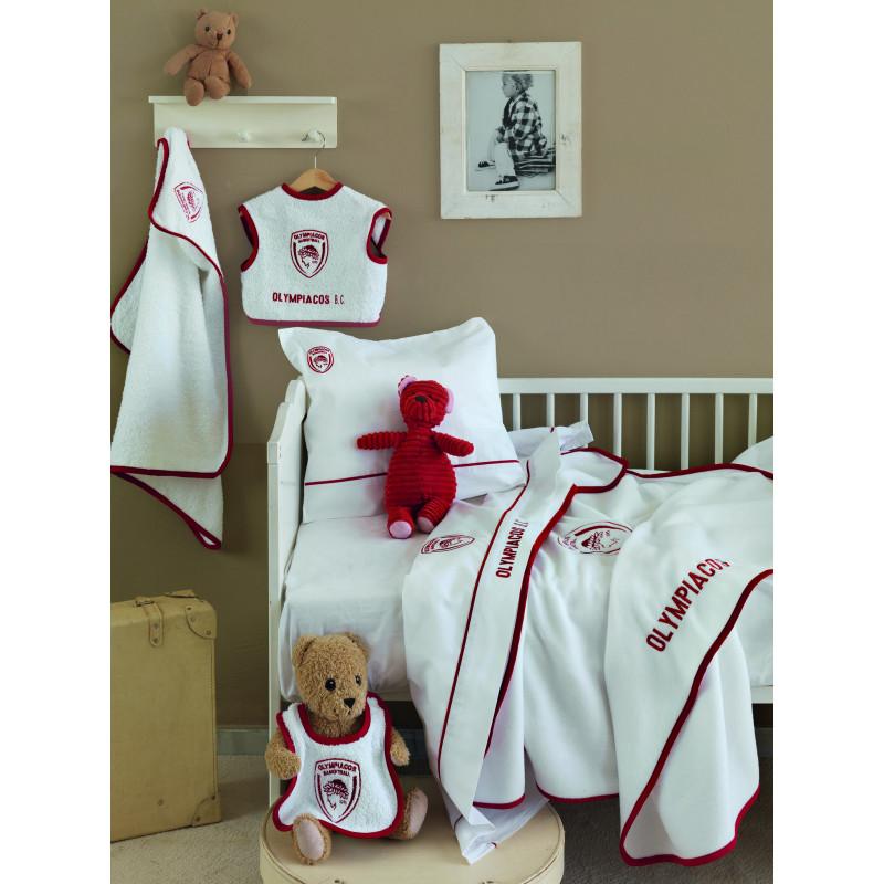 Κουβερτα Κούνιας fleece Palamaiki Olympiacos baby team
