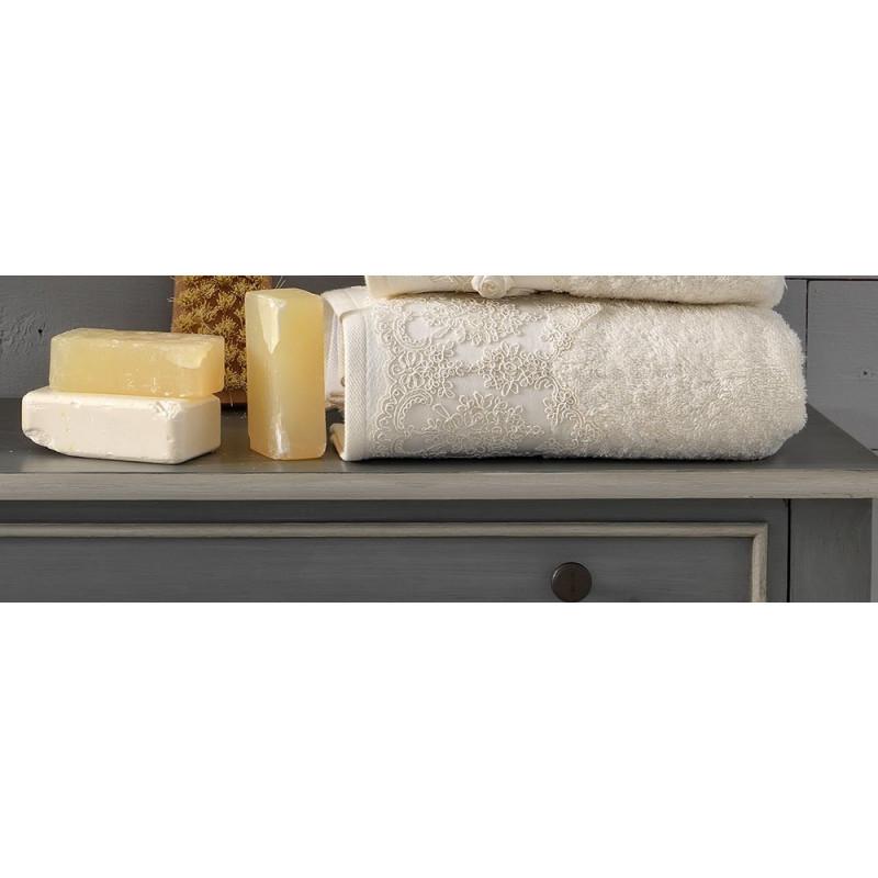 Πετσέτες (Σετ 3 Τμχ) Pride Palamaiki Premium Towels Ivory