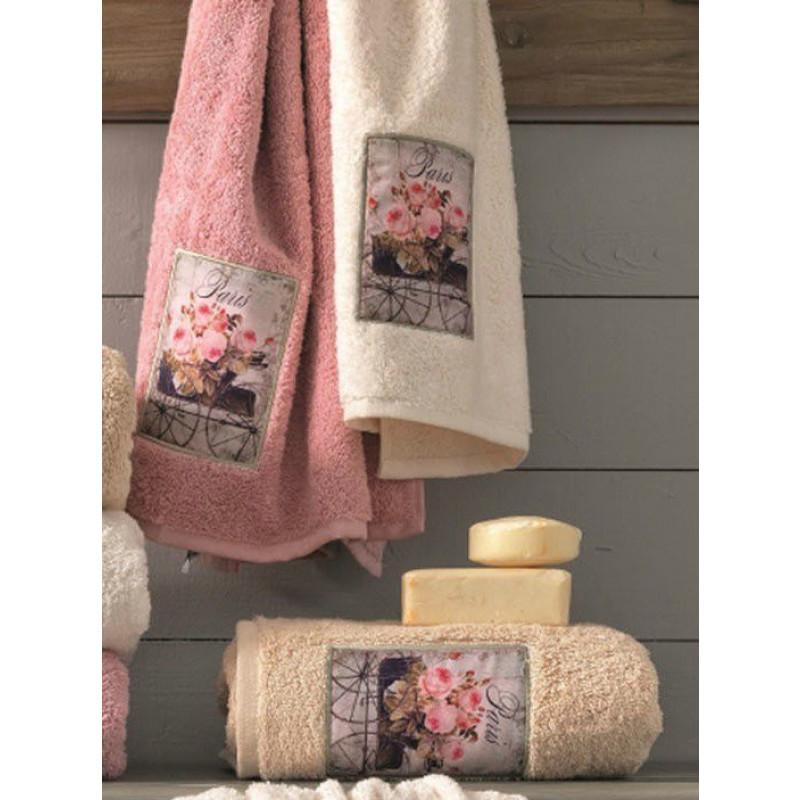 Πετσέτες (Σετ 3 Τμχ) Roses Palamaiki Premium Towels