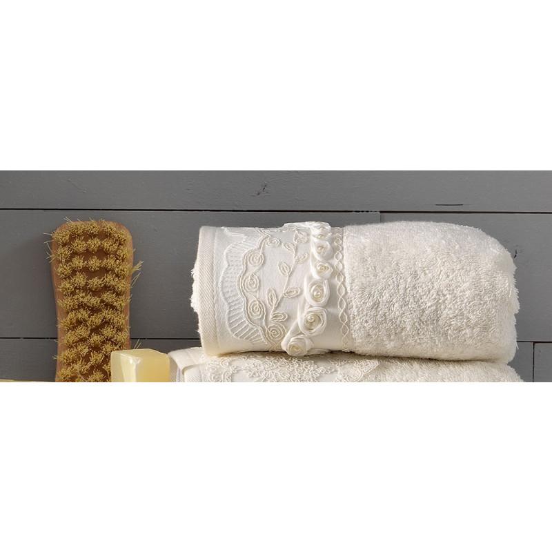 Πετσέτες (Σετ 3 Τμχ) Rudy Palamaiki Premium Towels Ivory