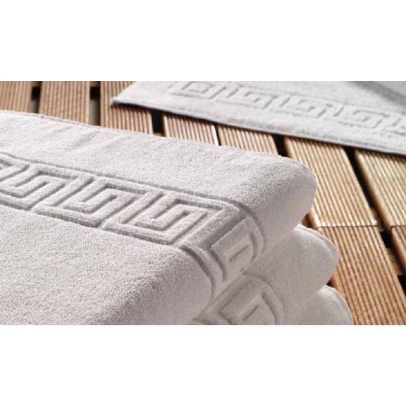 Πετσέτα 70x140 Λευκή Πενιε Μαιάνδρος 100% Βαμβάκι 500 Γραμ.