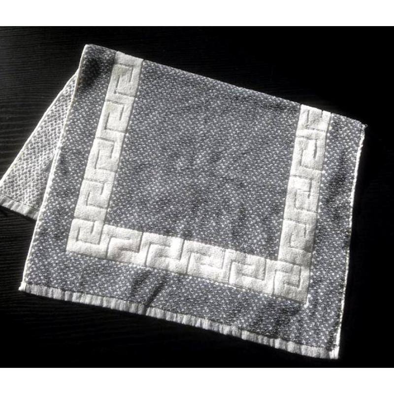Πατάκι 50x75 Μπάνιου - Γκρι Λευκό Μαίανδρος Ξενοδοχειακό