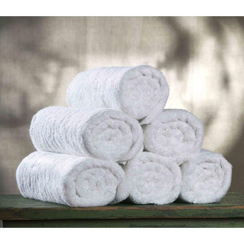 Πετσέτα 70x140 Ριγέ Μπορντούρα 450 Γραμ. Λευκή 100% Βαμβάκι Πενιε