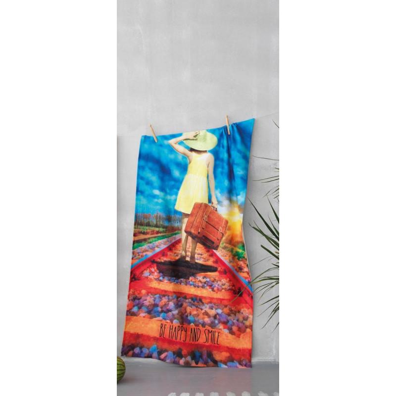 Πετσετα Θαλασσης 75x150 YH-053 Palamaiki Digital Print