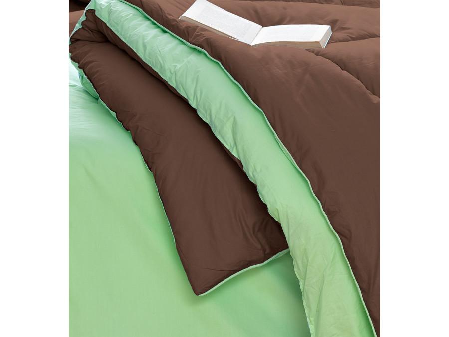Σεντόνια+Πάπλωμα+Παπλωματοθήκη Υπέρδιπλα(Σετ 8τμχ) Bm0804 Palamaiki Bed In A Bag Monochromatic Βεραμαν-Καφε