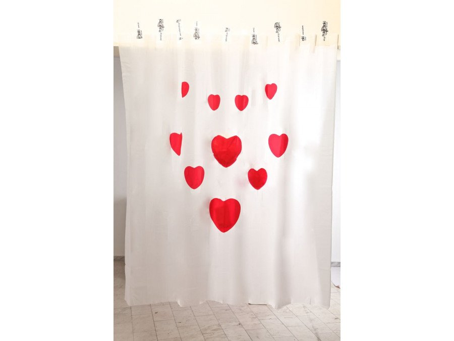 Κουρτίνα Μπάνιου 180x200 Hearts Palamaiki Shower Curtain