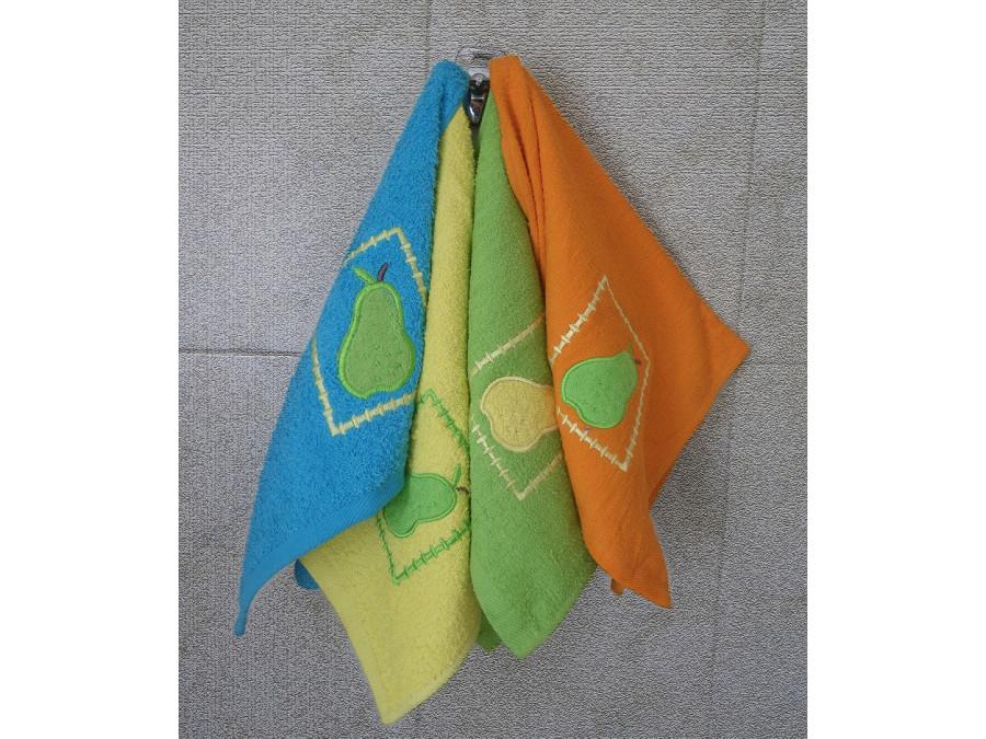 Βαμβακερή Πετσέτα 40x60 με κέντημα σε 4 χρώματα