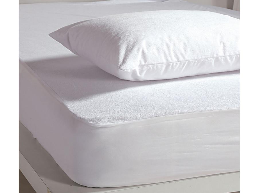 Αδιάβροχο Επίστρωμα Διπλό 140x200+30 Nef Nef White Linen Pu Λευκό