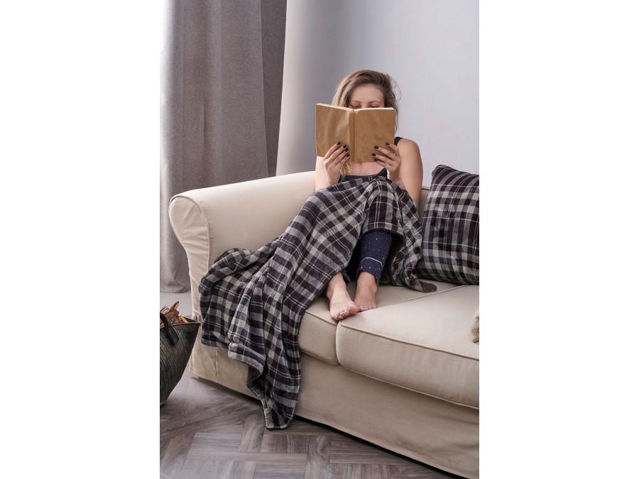 Διακοσμητική Μαξιλαροθήκη 50X50 Palamaiki Check Blanket Check Grey