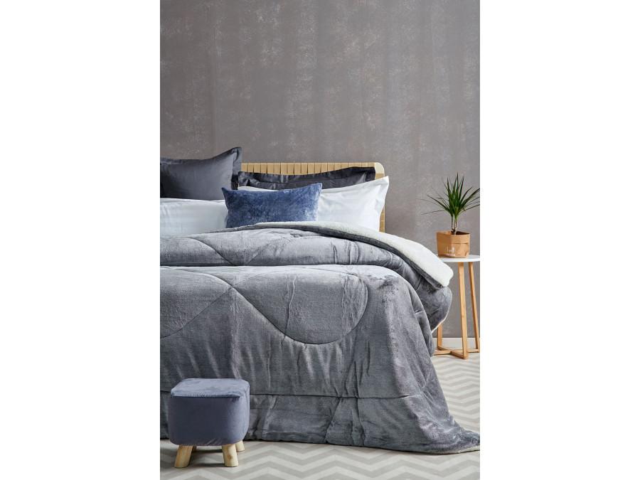 Διακοσμητική Μαξιλαροθήκη 50X50 Palamaiki Gring Blanket Grind Gray