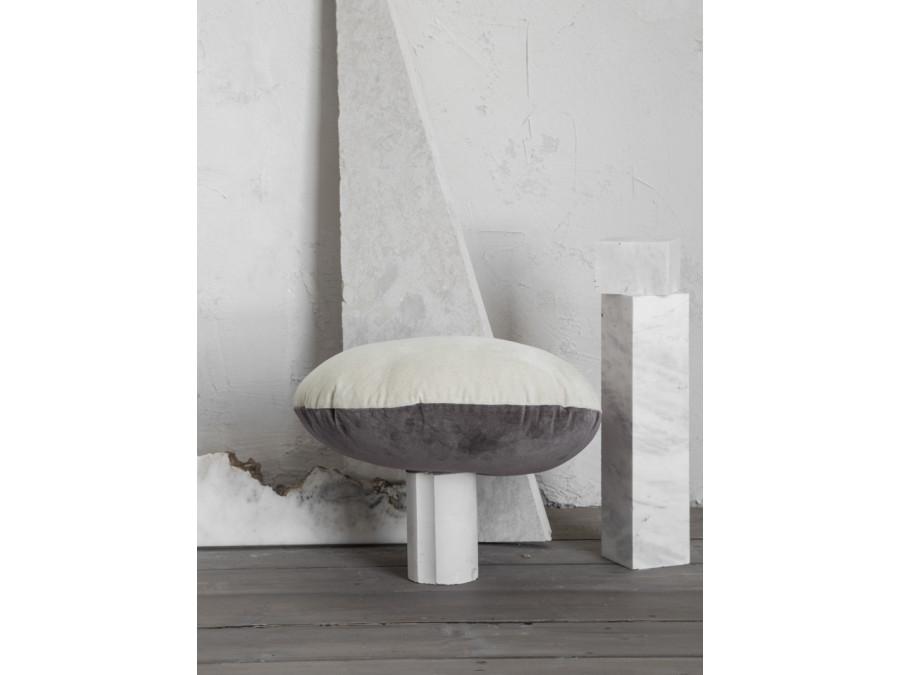 Διακοσμητικό Μαξιλάρι Φ45 Nima Velvety Beige/Gray