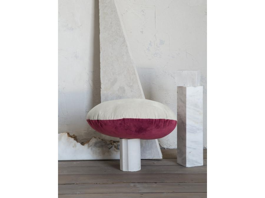 Διακοσμητικό Μαξιλάρι Φ45 Nima Velvety Red/Light Gray