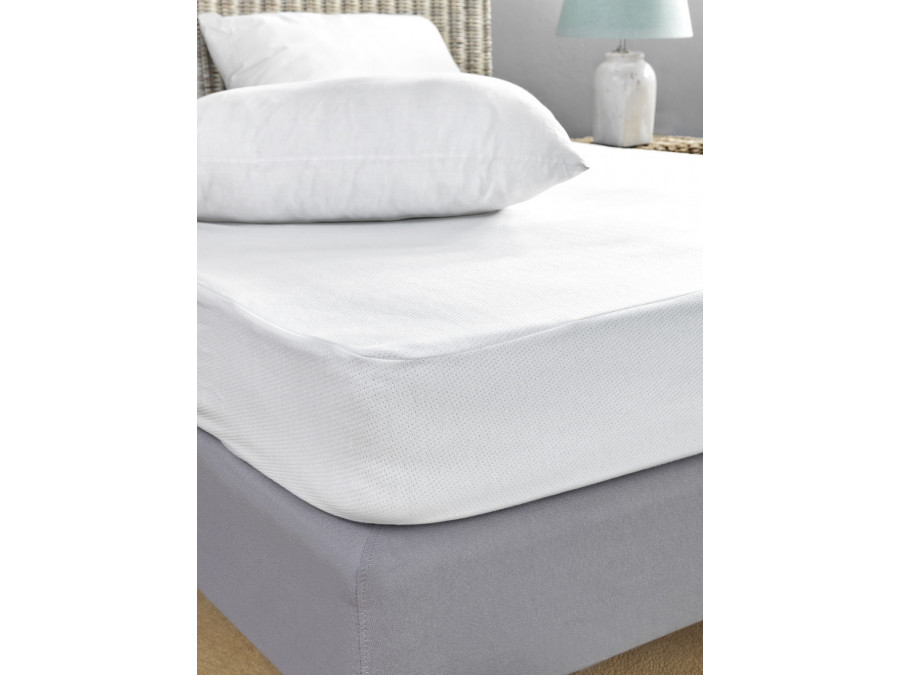Αδιάβροχο Κάλυμμα Στρώματος Υπέρδιπλο 170X200+30 Jaquard Waterproof Palamaiki White Comfort