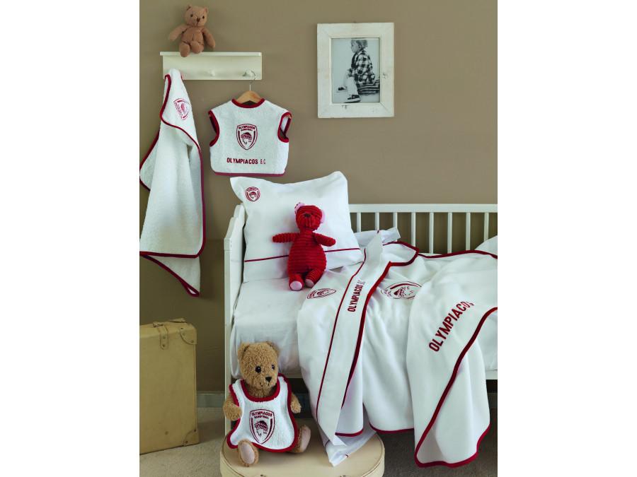 Βρεφικό (Σετ 3 Τμχ) Πετσέτες Λουτρού Palamaiki Olympiacos baby team