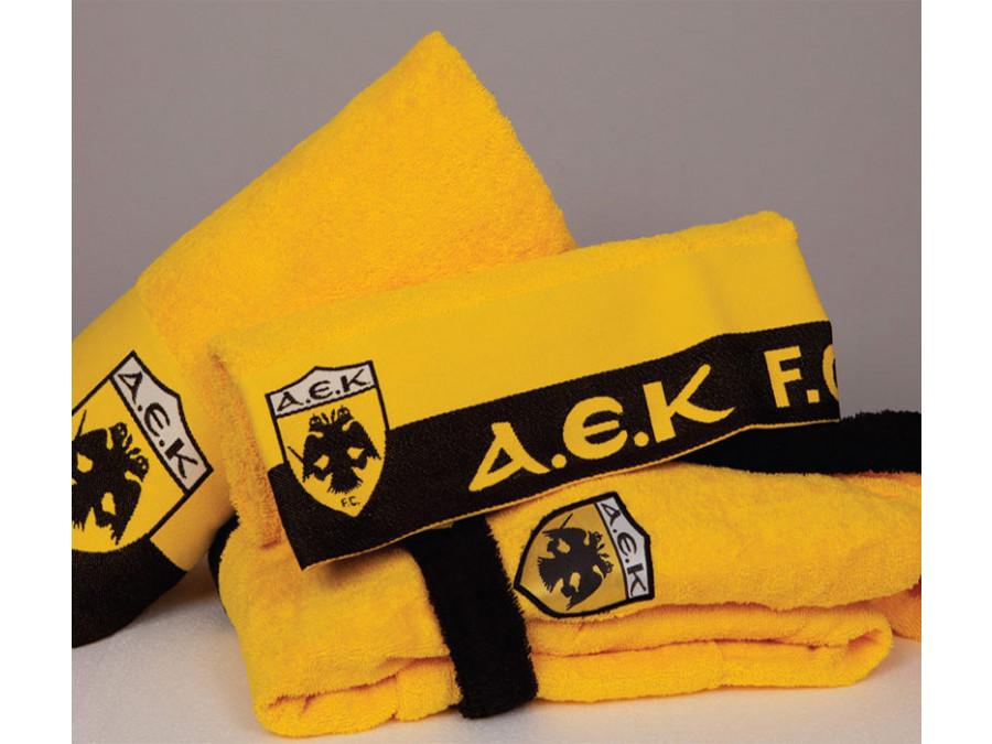 Πετσέτα Σώματος (70x140) Palamaiki Official Team Licenced Fc Α.ε.κ. Yellow