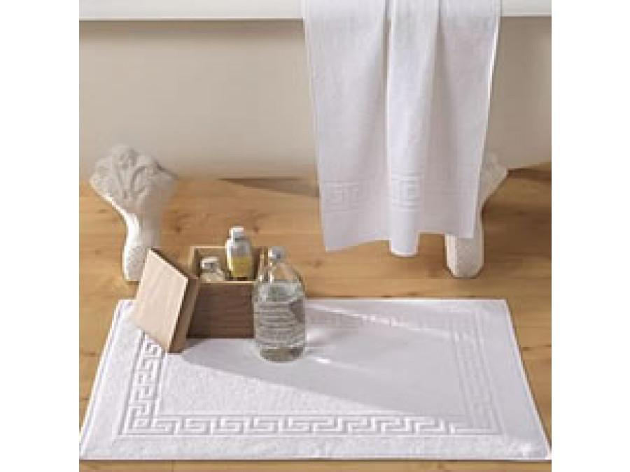 Πατάκι 50x75 Μπάνιου - Λευκό Μαίανδρος Ξενοδοχειακό