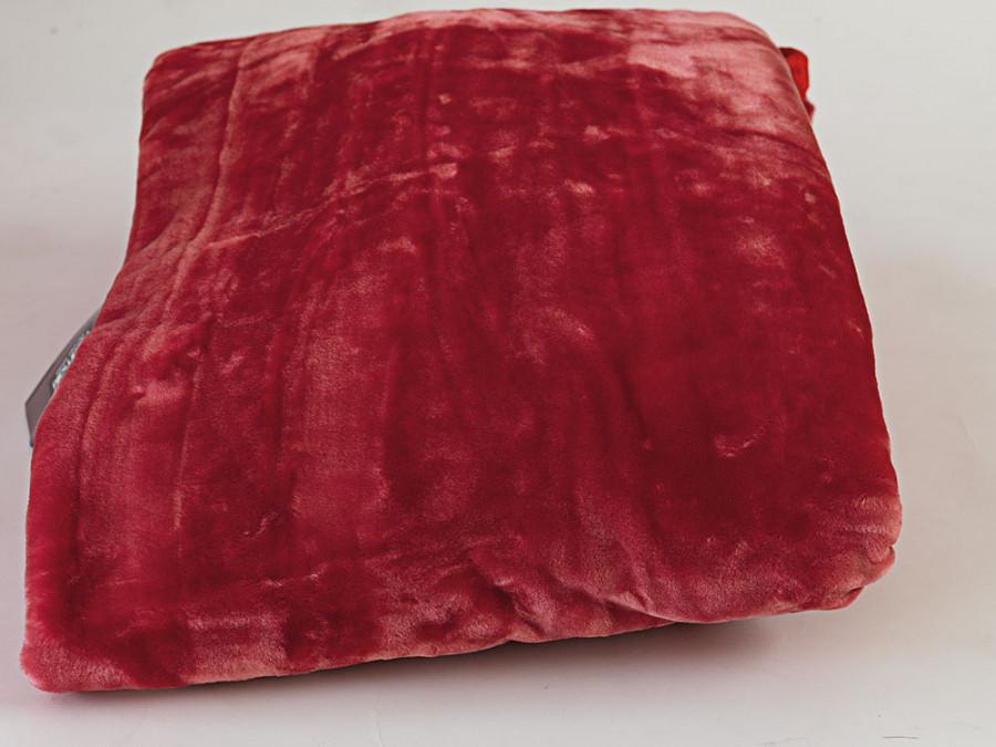 Κουβέρτα Βελουτέ Υπέρδιπλη 220x240 Dream Velour Palamaiki Dream Velour Wine Red